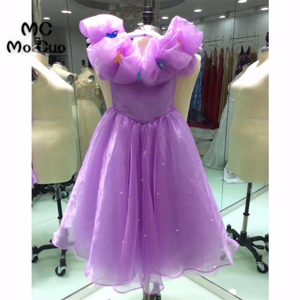2018 Elegante Cocktail Party Kleider Homecoming Kleid Rüschen Crystals Bow Organza Prinzessin Kurze Heimkehr Kleid 100% Echt Wohltuend FüR Das Sperma