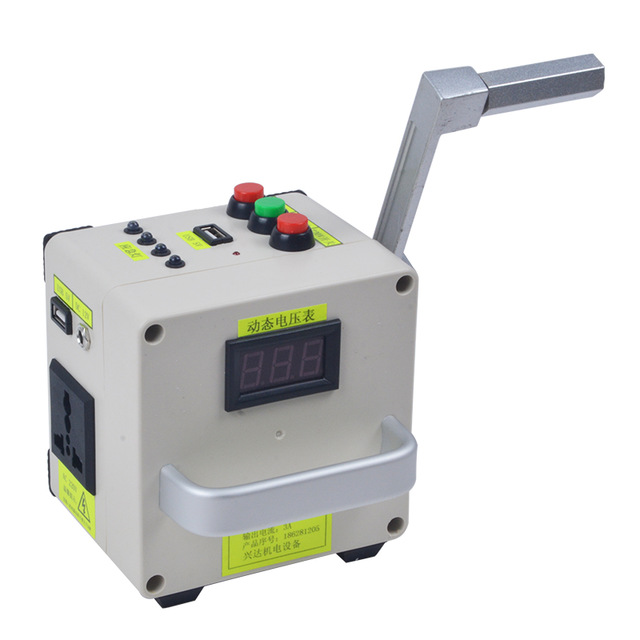 Small Scale Hand Crank Generator Phone Charger Portable