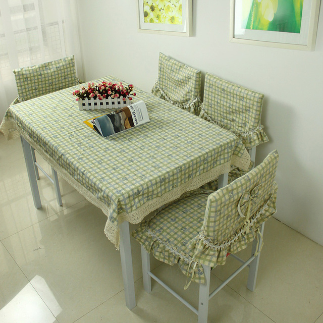 Rustic table cloth fabric dining table cloth table cloth tablecloth table runner chair cover square grid