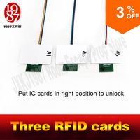 Real Room Game Equipments Room Escape Prop IC Card To Open The Door Three Photos In