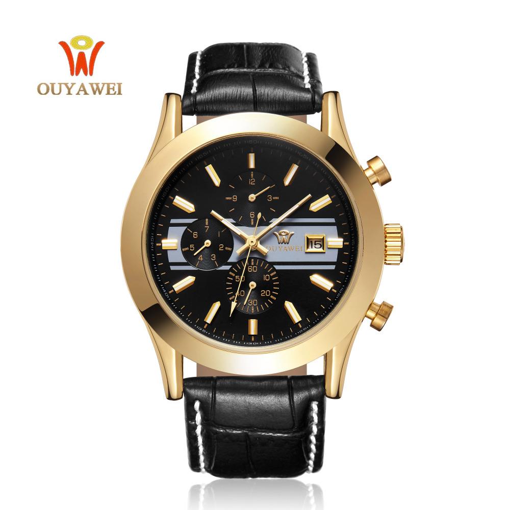 Prix pour Mens Montres Haut Marque De Luxe Hommes montre-Bracelet D'affaires Mécanique montres Ouyawei Marque Horloge xfcs
