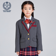 (Only One Jacket) Girls Suit Preppy Style Single Breasted Jacket Kids Coat Elegant suit Brand Clothing 1028