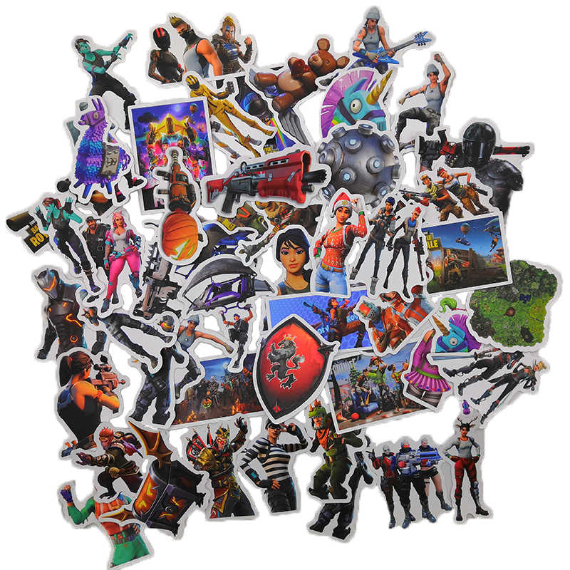 52 Pcs/Pack 104 Pattern Selection Battle Royale Game Sticker For Moto & Car Suitcase Skateboard Refrigerator laptop stickers