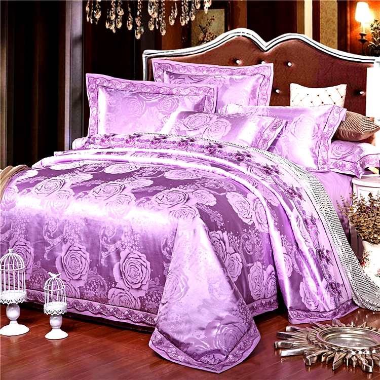 Satin Jacquard four piece bedding2.0 applicable x2.3 2.7 m bed were autumn and new European wedding Suite