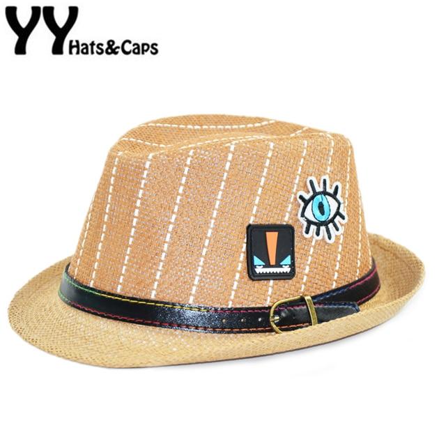 Straw Panama HAT Boys Summer Sun Visor Cap Kids Jazz Hat Panama Fedora Hat  Trilby Panama e79cdc29e6e3