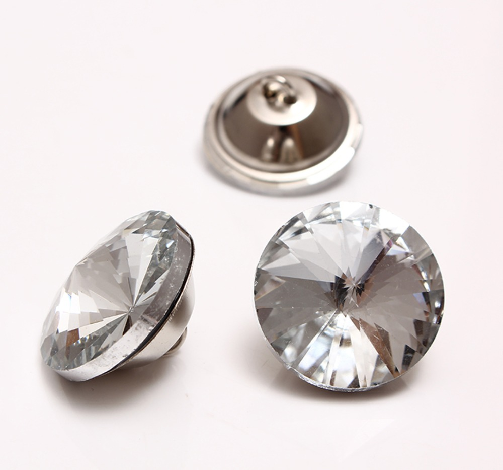 25mm Rhinestone Crystal Buttons Sewing For Decoration Crafts Headboard Sofa Ktv Wall Upholstery 550pcs/lot Buttons