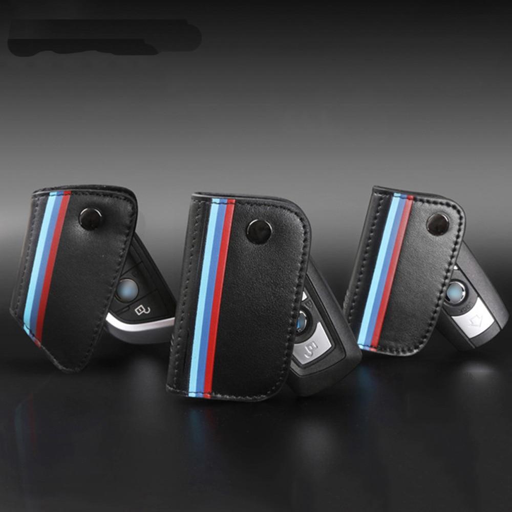 Otomobiller ve Motosikletler'ten Araba için Anahtar Kılıfı'de Hakiki Deri Anahtarlık bmw e90 f30 f34 f10 e70 e71 x1 x3 x4 x5 x6 1 2 3 4 5 6 7 serisi Klasik Tasarım Araba Anahtarı Durum title=
