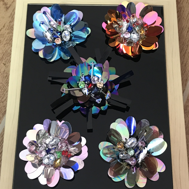 High quality handmade beaded large 3D Symphony flower patch clothes DIY accessories cap decoration patch Bugs applique A1427