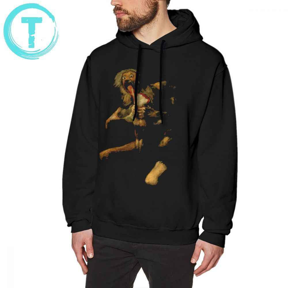 Goya Hoodie Saturn Devouring His Son Classic Painting By Francisco Goya Hoodies Long Sleeve XXX Pullover Hoodie Cotton Hoodies