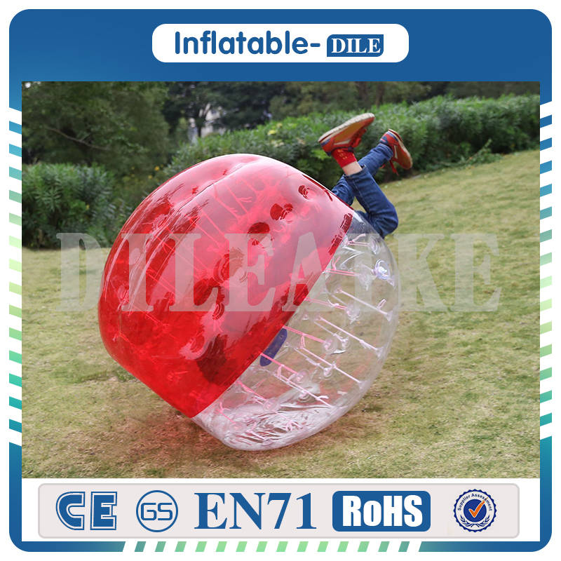 Hot 0.8mm PVC 1.5m Bumper Soccer Ball, Inflatable Bubble Ball Suit For Children