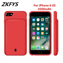 ZKFYS 4500mAh Large Capacity Portable Power Bank Case  For iPhone 6 6S Thin and light Fast Phone Charger Battery Cover