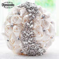 Kyunovia crystal Wedding Bouquet Red Brooch bouquet wedding accessories Bridesmaid artifical Wedding flowers Bridal Bouquets FE8