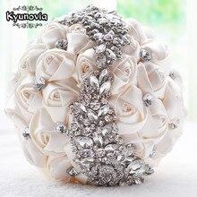 Kyunovia Кристалл Букеты Свадебные красный брошь букет свадебные аксессуары невесты Искусственный Свадебные цветы Свадебные букеты FE8