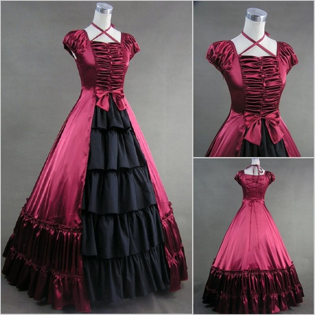 5f3f5cd61577e (GT019) Short Sleeve Gothic Lolita Southern Bell Dress Gothic Victorian  Ball Gown Fancy Dress Prom Halloween Party Costume
