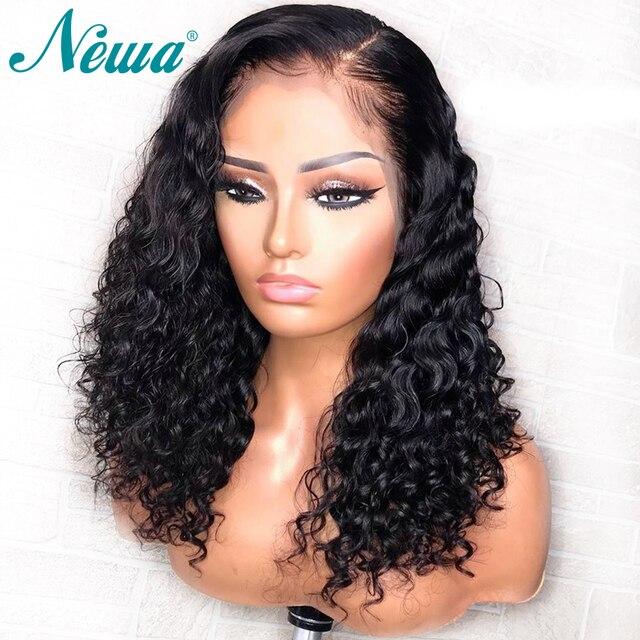 Pelucas de pelo humano frontal de encaje NYUWA con pelo de bebé para mujeres negras sin pegamento brasileño Remy cabello humano pelucas frontales pre arrancado
