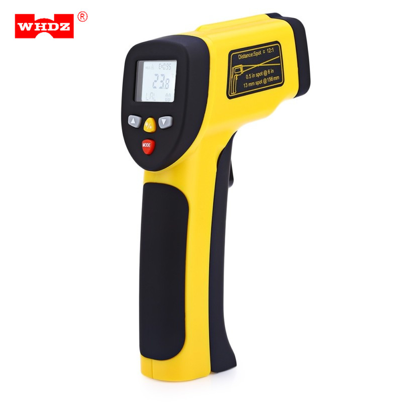 цены WHDZ HT-819 Multi Purpose Dual Laser LCD Display IR Infrared Thermometer -50 To 1050 Degree Celsius Temperature Meter Sensor