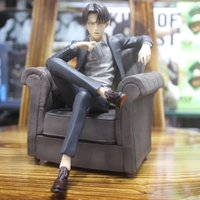 16CM Japanese anime figure Attack on titan Rivaille Ackerman sitting ver action figure collectible model toys for boys