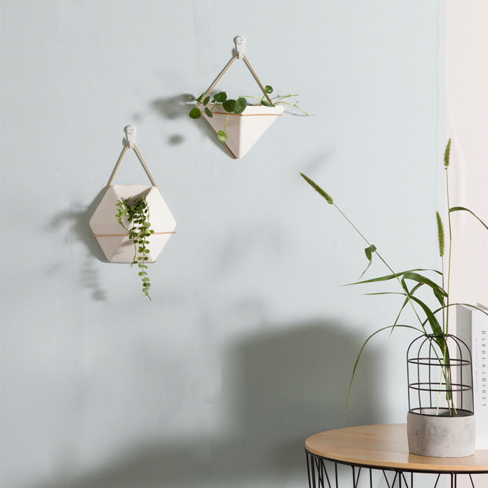 New Wall Flower Plant Pot Hanging Green Plant Wall Hanging Planter ...