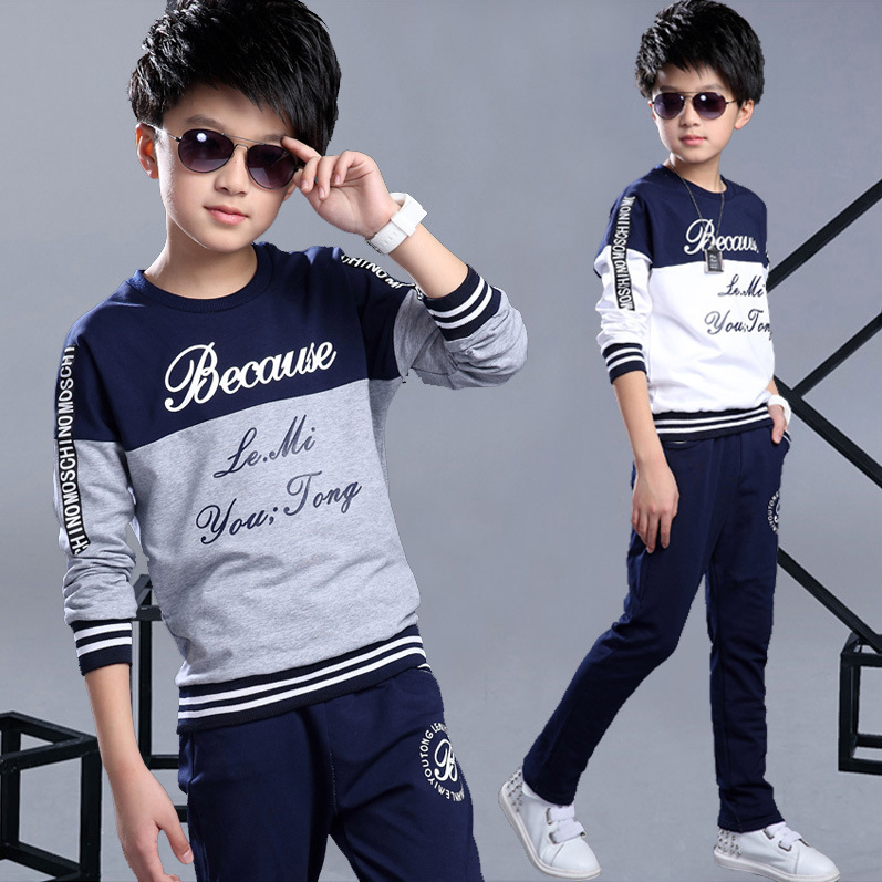 2018 New Spring Autumn Boy Track Suit Children's Sports Clothing Set 2 Pieces Top + Pants Suits Kids Fashion Track Suit for Boys retail brand print boys clothing set spring autumn new kids sports suit long sleeve top