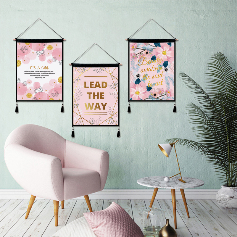 Aliexpress.com : Buy Flower Plant Pink Cute Tapestry Home