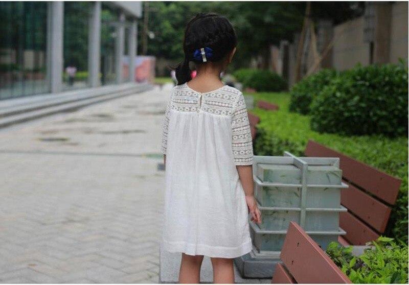 Dziewczęce oddychające koronkowe sukienki Letnie sukienki - Ubrania dziecięce - Zdjęcie 6