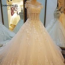 LS0040 Lace Wedding Dresses Appliques Sweetheart Corset Back 3D flowers Bridal Gowns 2017 robe de mariage Real Photos