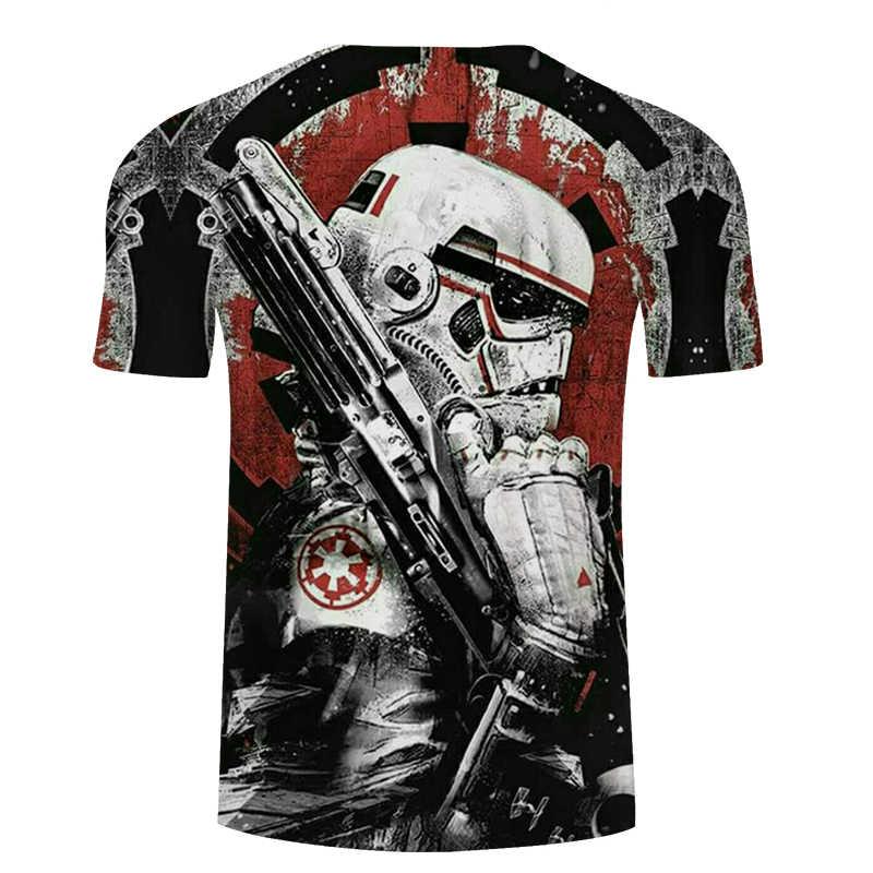 Футболка 2020 NOVEDAD DE VERANO diseño de star wars de los hombres camiseta 3D impreso Harajuku adulto Darth Vader t camisa de manga corta los hombres tシャツ