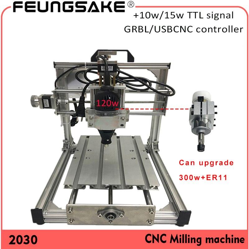 300w Spindle CNC 2030 Grbl Controller, Diy Mini Cnc Engraving Machine,laser Engraving,Pcb PVC Milling Machine,USBCNC Wood Router