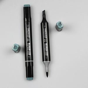 Image 5 - Finecolour EF102 Мягкие кисти, профессиональные скетч, двухсторонние чернила на спиртовой основе, серые серии 8 цветов, художественные маркеры