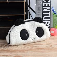 Limit Shows Panda Plush Pencil Case Pen Pocket Cosmetic Zipper Bag makeup cosmetic bag stationery set Pouch Gift Soft school hot(China)