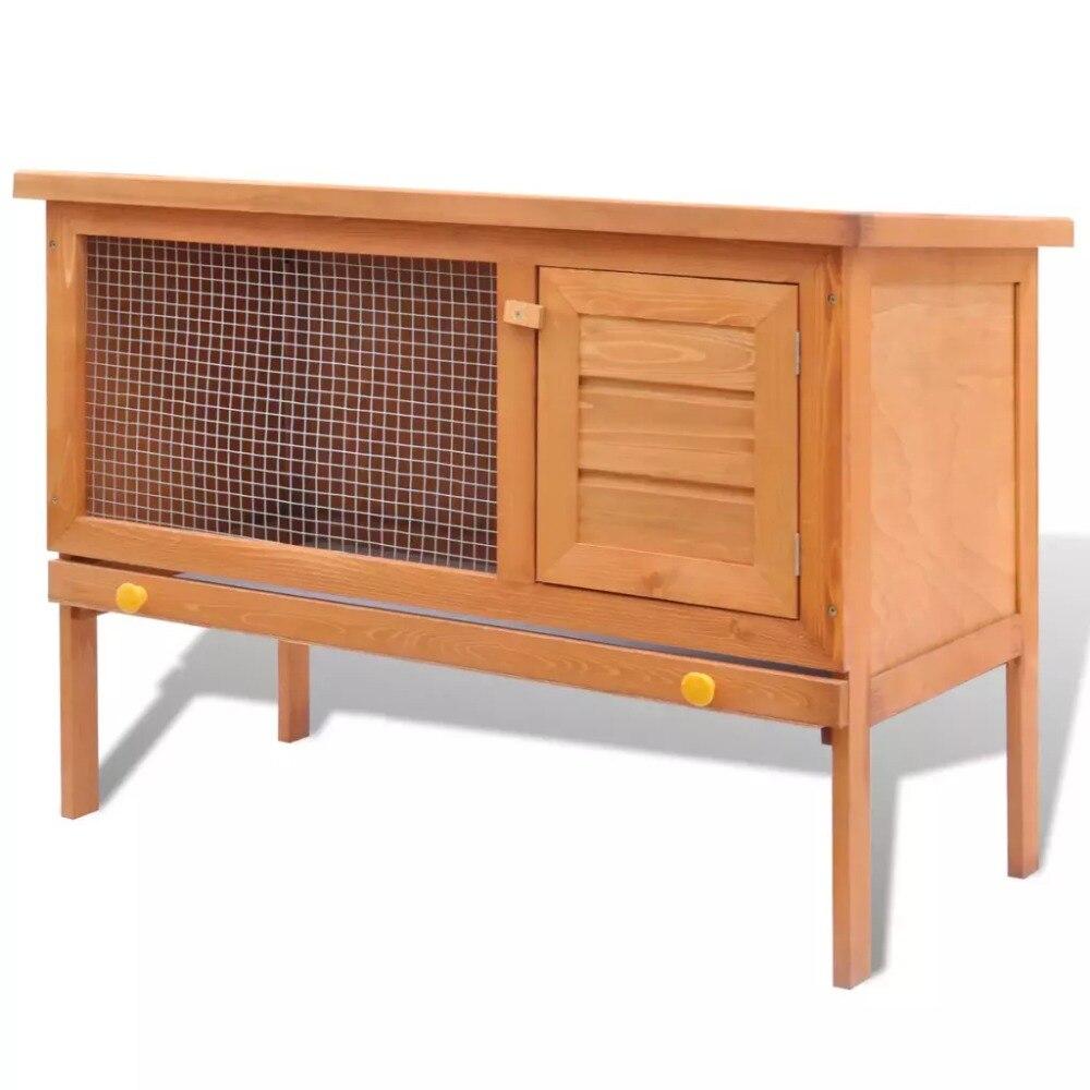 Clapier de lapin extérieur petite maison pour animaux Cage pour animaux de compagnie 1 couche hamac en bois cobaye lapin suspendu Cage de lit