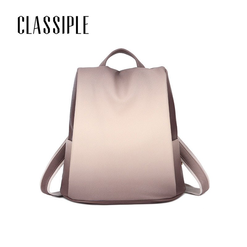 Gradient Backpack For Laptop 15.6 Inch Soft Leather Laptop Backpack Women Beautiful Girl Backpacks To School Schoolbag Backpacks