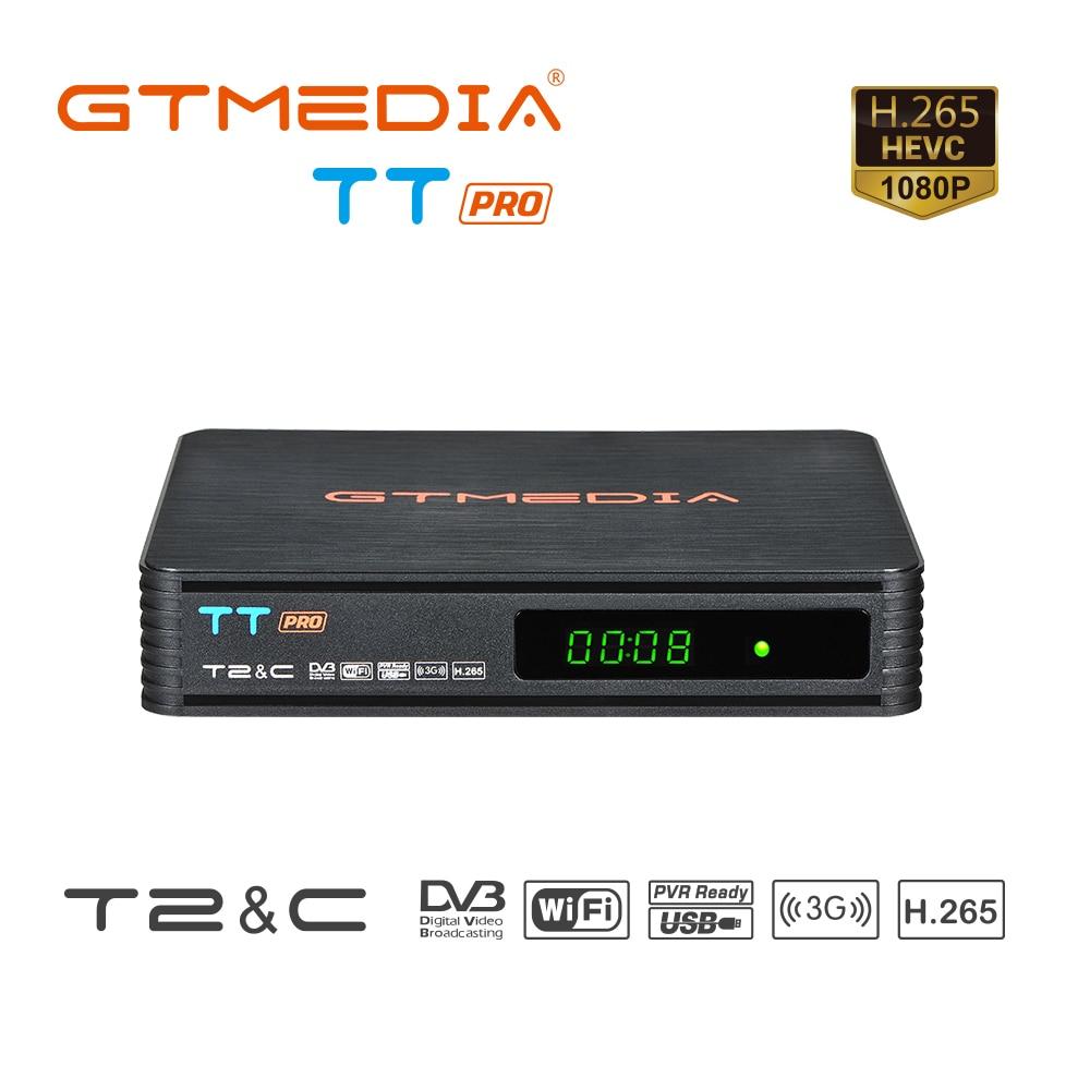 Receptor de TV Digital terrestre TT PRO DVB-T2/T, sintonizador de TV HD, MPEG4, DVB T2, H.265, DVB-C, decodificador satélite