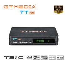 Nova chegada tt pro DVB-T2/t receptor de tv terrestre hd sintonizador de tv digital receptor mpeg4 dvb t2 h.265 DVB-C tv caixa satélite decod