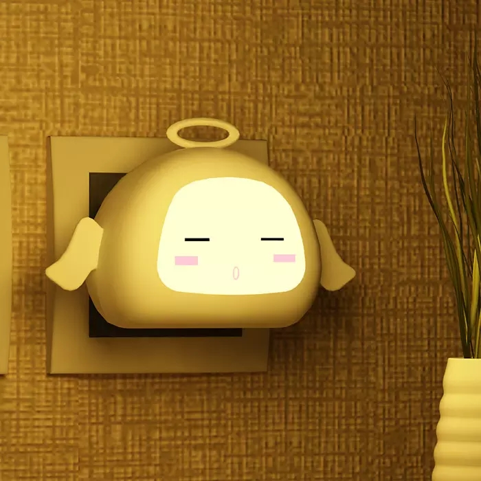 Cute Angel Auto LED Light Induction Sensor Control Bedroom/Toilets / Kitchen Night Lights Lamp free shipping newest design night lamp totoro cute portable touch sensor usb led lights for baby bedroom sleep lighting light