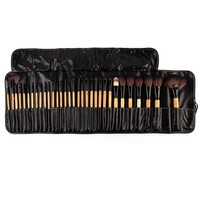 Great Discount 32Pcs Natural Makeup Brushes Makeup Artist Professional Cosmetics Set Best Quality Bridal Makeup Tools