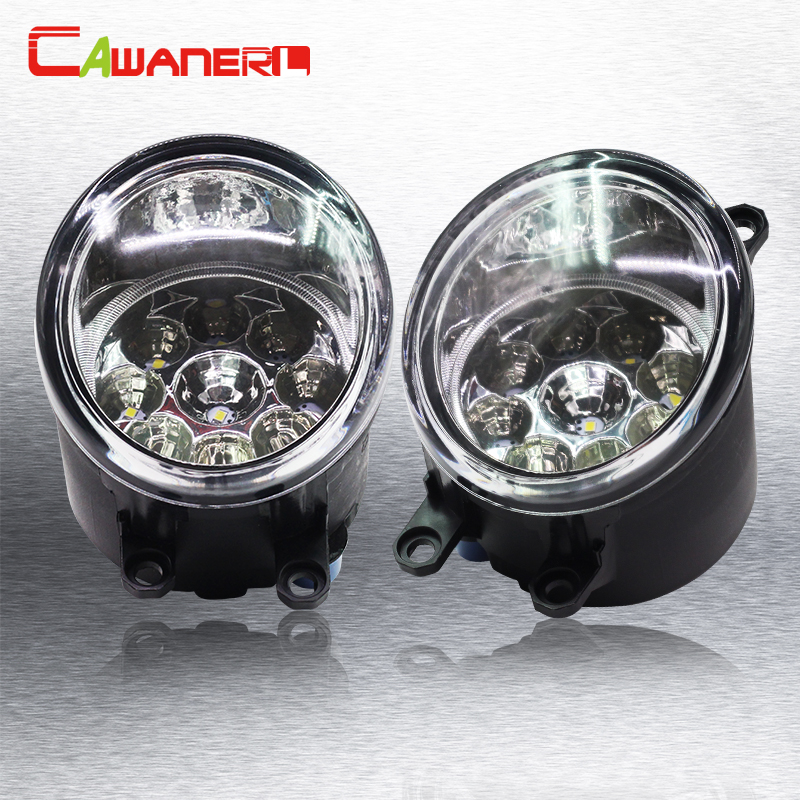 Cawanerl 1 Pair H8 H11 Auto Fog Light DRL Daytime Running Light Car LED Light For Toyota Avensis T25 Combi (T25) Estate Saloon cawanerl h8 h11 auto fog light drl daytime running light car led lamp bulb for toyota prius hatchback zvw3 1 8 hybrid 2009