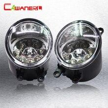 Cawanerl 1 Pair H8 H11 Auto Fog Light DRL Daytime Running Light Car LED Light For Toyota Avensis T25 Combi (T25) Estate Saloon