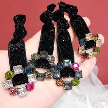 Korea Spring New Style Flower Crystal Elastic Hair Bands Diamond Accessories Bows Rubber Band Ring Gum For Women