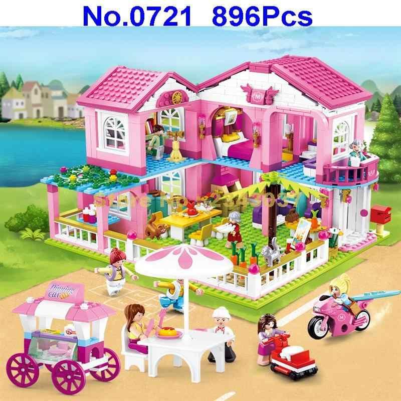 Sluban m38-0721 896pcs ragazza di città amici giardino villa pane da pranzo auto blocchi di costruzione Del Giocattolo