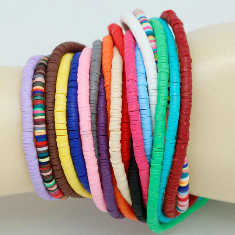 Mix Color 400pcs/String Bracelet Accessories DIY 3/4/5/6/mm for jewelry making clay beads Fimo Slices Vinyl Beads DIY Jewelry