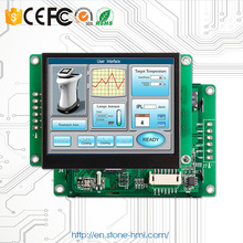 3.5 inch sunlight readable outdoor LCD module with controller board + program + serial interface