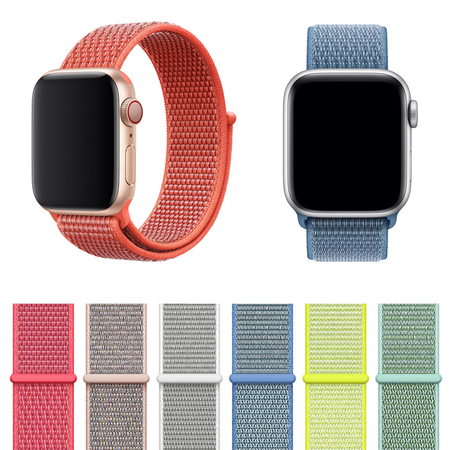 e9d17d51b57 New Woven Nylon Sport Loop band for Apple Watch Series 4 44mm 40mm strap  watchband for iWatch Nike+ 3 42mm 38mm bands
