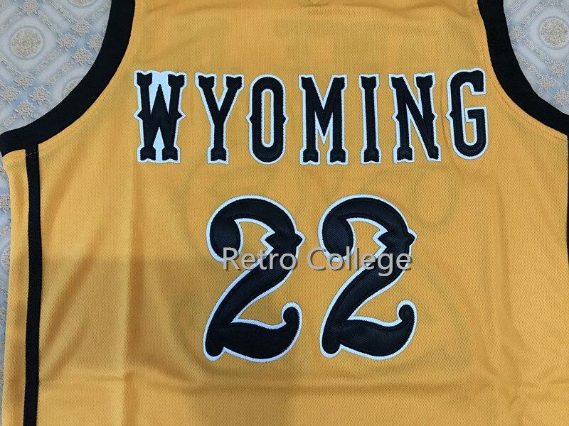 2018 Новый Ларри Нэнс младший Вайоминг Колледж Баскетбол Джерси Вышивка сшитые на заказ любой номер и имя Трикотажные
