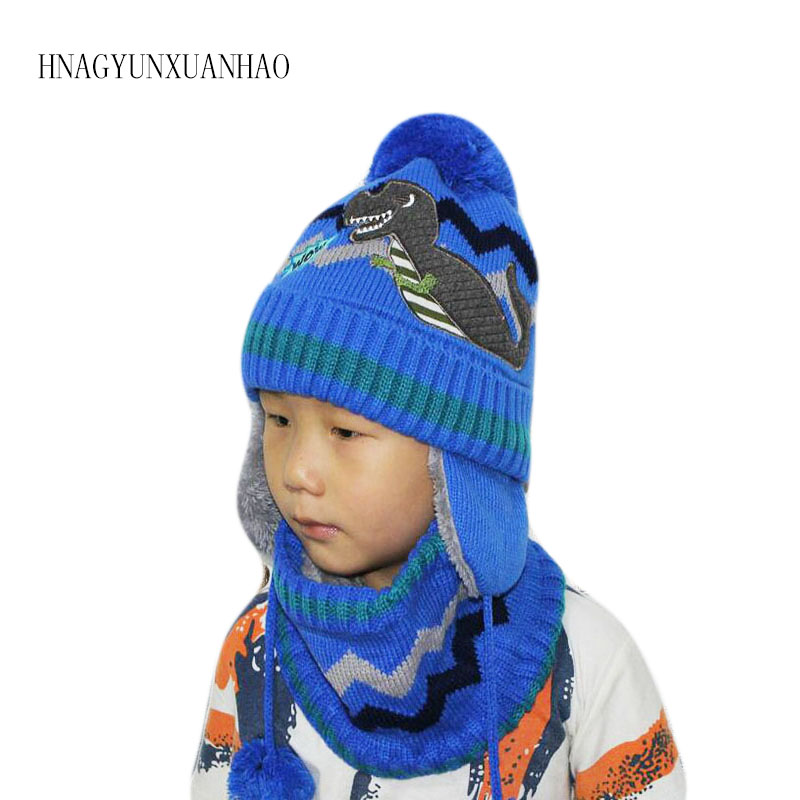 HNAGYUNXUANHAO Children Hat Toddler Kids Child Baby Autumn Winter Hat Scarf Set Knit Beanie Hat For Baby Boys Girls Cap 2-8 Year