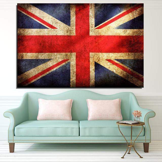 Bandera del Reino Unido Aerosol Animal Moderno Sin Marco pintura al ...