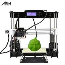 2017 Анет A8 3D принтер большой Размеры 220*220*240 мм Точность RepRap Prusa i3 3D комплект принтера DIY с нити 8 ГБ SD карты ЖК-дисплей