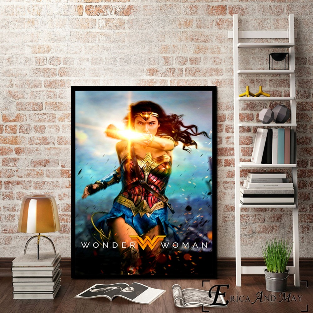 Wonder Woman Movie Figure Movie Canvas Prints Modern Painting Posters Wall Art Pictures For Living Room Decoration No Frame in Painting Calligraphy from Home Garden