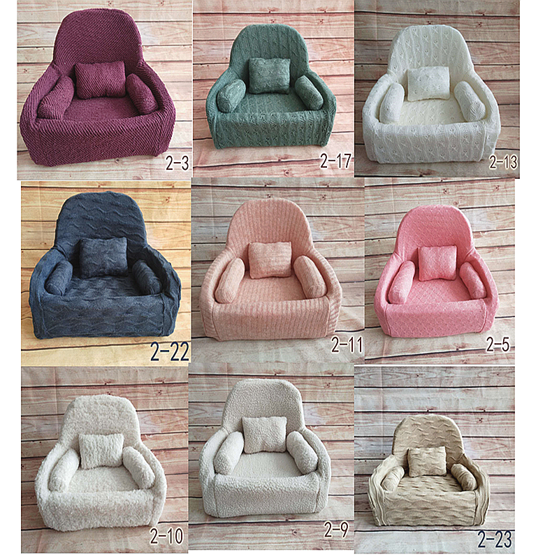 100 Days Baby Sofa &Pillow Set Posing  Chair Decoration  Photography Accessories Baby Studio Shooting Newborn Photography Props