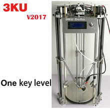 Free shipping 3KU Updated Full Metal Delta 3D Printer with heatbed one key leveling 1KG PLA/ABS